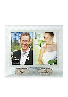 Malden Mr. Right and Mrs. Always Right 4x6 Frame