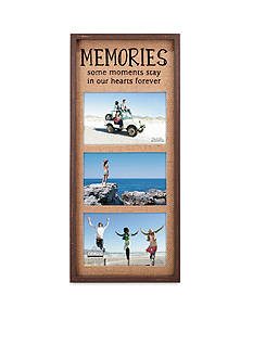 Malden Burlap Memories 3 Up 4x6 Frame