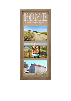Malden Burlap Home is Where the Heart Collage Frame