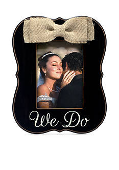 Malden We Do Burlap Bow 5x7 Frame