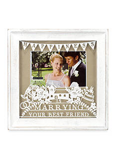 Malden Marrying Best Friend Burlap 4x6 Frame