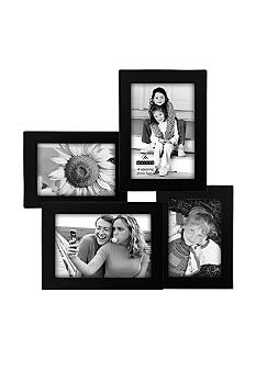 Malden 4-Opening Black Puzzle Collage Frame