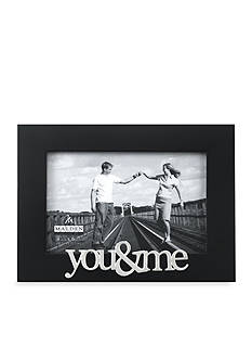 Malden Black 4x6 You and Me Frame