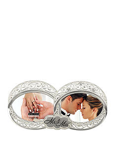 Malden Mr. and Mrs. Double Ring 3x3 Frame