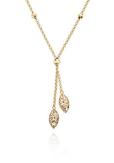 Belk & Co. 10k Yellow Gold Lariat Necklace