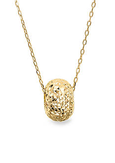 Belk & Co. 10k Yellow Gold Doughnut Bead Necklace