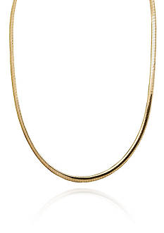 Belk & Co. 14k Yellow Gold Omega Necklace