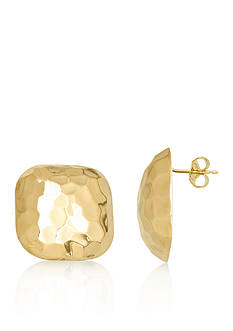 Belk & Co. 14k Yellow Gold Square Button Earrings