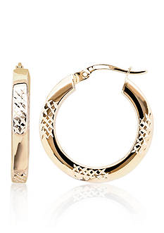 Belk & Co. 14k Two-Tone Gold Square Hoop Earrings