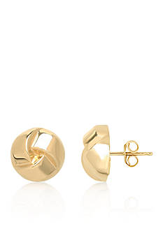 Belk & Co. 14k Yellow Gold Love Knot Button Earrings