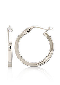 Belk & Co. 14k White Gold Square Hoop Earrings