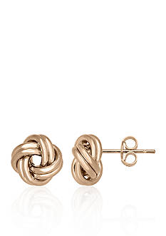 Belk & Co. 14k Rose Gold Love Knot Button Earrings