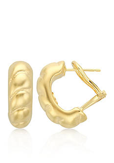Belk & Co. 14k Yellow Gold Shrimp J-Hoop Earrings
