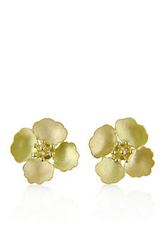 Belk & Co. 14k Yellow Gold Flower Button Earrings