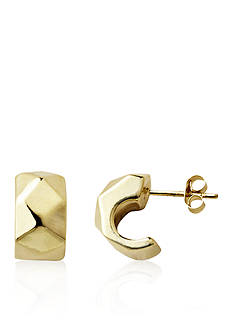 Belk & Co. 14k Yellow Gold J-Hoop Earrings