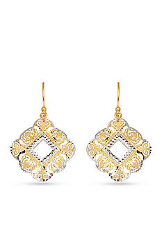 Belk & Co. 14k Yellow Gold Filigree Earrings