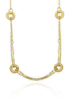 Belk & Co. 14k Yellow Gold Circle Necklace