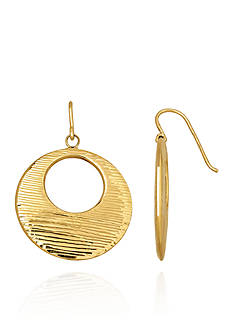 Belk & Co. 14k Yellow Gold Circle Disc Earrings