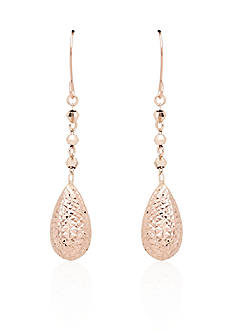 Belk & Co. 14k Rose Gold Teardrop Earrings