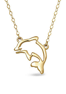Belk & Co. 14k Yellow Gold Dolphin Necklace