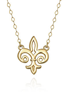 Belk & Co. 14k Yellow Gold Fleur De Lis Necklace