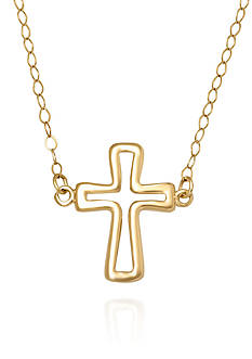 Belk & Co. 14k Yellow Gold Cross Necklace