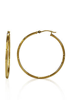 Belk & Co. 14k Yellow Gold Hoop Earrings