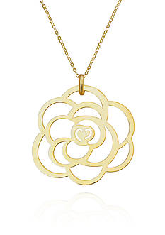Belk & Co. 10k Yellow Gold Flower Pendant