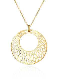 Belk & Co. 10k Yellow Gold Circle Pendant
