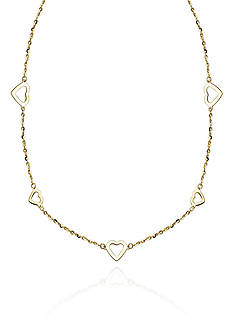 Belk & Co. 10k Yellow Gold Heart Necklace