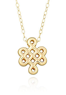 Belk & Co. 10k Yellow Gold Longevity Symbol Necklace