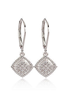 Belk & Co. Sterling Silver Diamond Earring