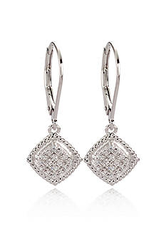 Belk & Co. Diamond Drop Earrings in Sterling Silver