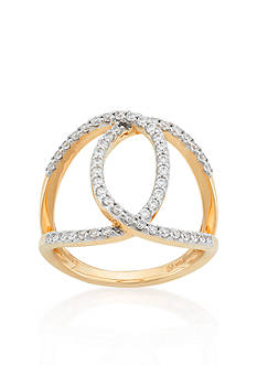 Belk & Co. Diamond Open Circle Ring in 10k Yellow Gold
