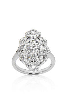 Belk & Co. 1/2 ct. t.w. Diamond Marquise Shape Open Weave Ring set in Sterling Silver