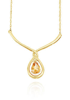 Belk & Co. Citrine Necklace in 10k Yellow Gold