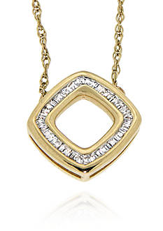 Belk & Co. Diamond Necklace in 10k Yellow Gold