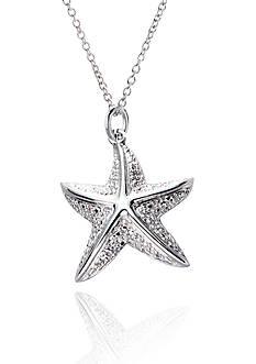 Belk & Co. 1/10 ct. t.w Diamond Starfish Pendant in Sterling Silver