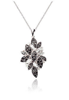 Belk & Co. 1 ct. t.w. Black and White Diamond Pendant in Sterling Silver