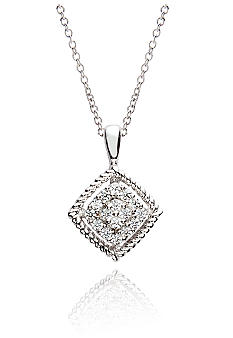 Belk & Co. Sterling Silver Diamond Pendant