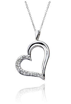 Belk & Co. 1/5 ct. t.w. Diamond Heart Pendant in Sterling Silver