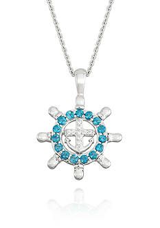 Belk & Co. London Blue Topaz and Diamond Accent Pendant in Sterling Silver