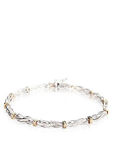 Belk & Co. 1/4 ct. t.w. Diamond Bracelet in Sterling Silver with 14k Gold