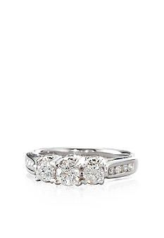 3 Stone Diamond Ring in 14k Gold