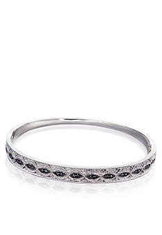 Belk & Co. 1/6 ct. t.w. Blue and White Diamond Bangle in Sterling Silver