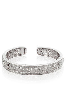 Belk & Co. Diamond Cuff Bangle in Sterling Silver
