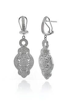 Belk & Co. Diamond Drop Earrings in Sterling Silver