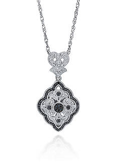 Belk & Co. Black Diamond Pendant in Sterling Silver