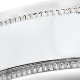 Fine Jewelry: White Gold Belk & Co. 10k 5-mm. Comfort Feel Milgrain Ring