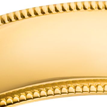 Belk & Co.: Yellow Gold Belk & Co. 10k 5mm Comfort Feel Milgrain Ring